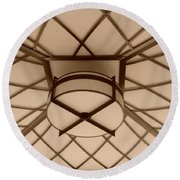 Sepia Lighted Box Round Beach Towel