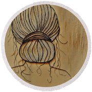 Sepia Round Beach Towel