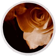 Sepia Series - Rose Petals Round Beach Towel