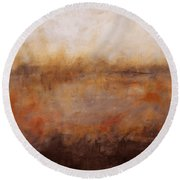 Sepia Wetlands Round Beach Towel
