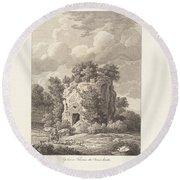 Sepolcro A Falerium Citt? Etrusca Ditrutta Round Beach Towel