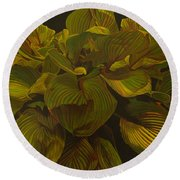 September Night Round Beach Towel