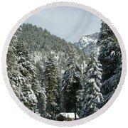 Sequoia National Park 7 Round Beach Towel