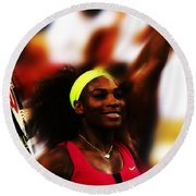 Serena Williams Another Record Set Round Beach Towel