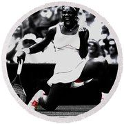 Serena Williams Victory Round Beach Towel by Brian Reaves