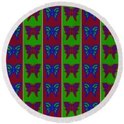 Serendipity Butterflies Blueredgreen 14of15 Round Beach Towel