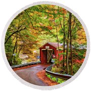 Serendipity Painted Round Beach Towel