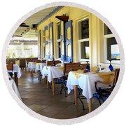 Serendipity Restaurant St Kitts Round Beach Towel