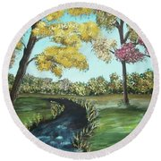 Serene Round Beach Towel