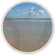 Serene Tidal Pool By The Sea Round Beach Towel