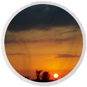 Serengeti Sunset Round Beach Towel