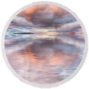 Serenity And Peace Round Beach Towel