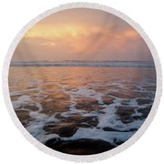 Serenity At The Sea Round Beach Towel