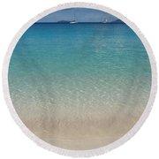 Serenity At Trunk Bay  Round Beach Towel