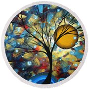 Serenity Falls By Madart Round Beach Towel by Megan Duncanson