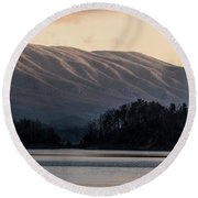 Serenity On The Water Round Beach Towel