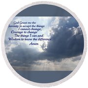 Serenity Prayer Round Beach Towel