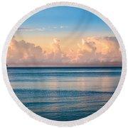 Serenity Sailing Round Beach Towel