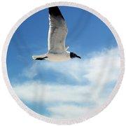 Serenity Seagull Round Beach Towel