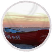 Serenity In Cape May Round Beach Towel