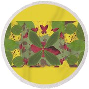 Serenity The Transcendence Into Autumn Round Beach Towel