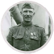 Sergeant Alvin York Round Beach Towel by War Is Hell Store