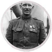 Sergeant York - World War I Portrait Round Beach Towel
