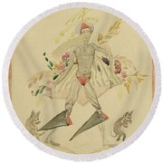 Sergei Vasilievich Chekhonin Russian 1878-1936 Character From An Eastern Fairytale Round Beach Towel