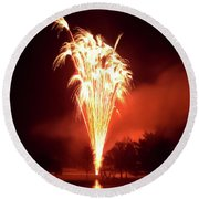 Series Of Fireworks 2 Round Beach Towel