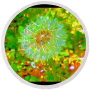 Series Of Spring Time Paintings Round Beach Towel