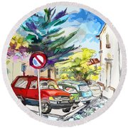 Serpa  Portugal 02 Bis Round Beach Towel
