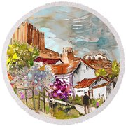 Serpa  Portugal 26 Round Beach Towel