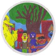 Children's Characters Round Beach Towel