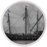 Set Sail For America Round Beach Towel