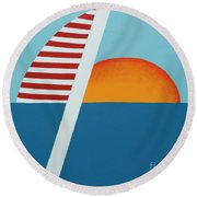 Set Sail Round Beach Towel