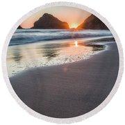 Setting Sun, No. 1 Round Beach Towel