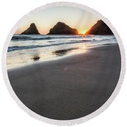 Setting Sun, No. 2 Round Beach Towel