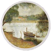 Seurat: Gray Weather Round Beach Towel