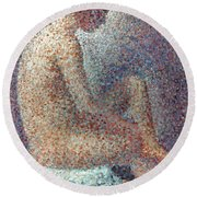 Seurat: Model, 1887 Round Beach Towel