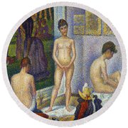 Seurat: Models, C1866 Round Beach Towel