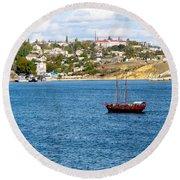 Sevastapol. Ukraine Round Beach Towel