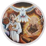 Seven-fold Spirit Of The Lord Round Beach Towel