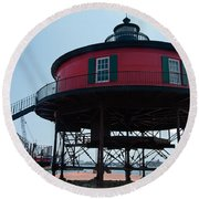Seven-foot Knoll Lighthouse Round Beach Towel