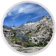 Seven Gables Over Seven Gables Lakes - Sierra Round Beach Towel