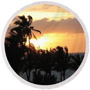 Seven Mile Sunset Round Beach Towel