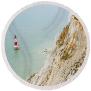 Seven Sisters Cliffs 16 Round Beach Towel