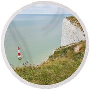 Seven Sisters Cliffs 19 Round Beach Towel