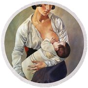 Severini: Maternity, 1916 Round Beach Towel