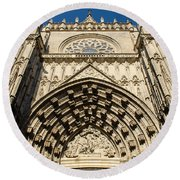 Seville - The Cathedral Round Beach Towel