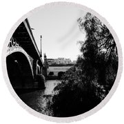 Seville - Triana Bridge Round Beach Towel